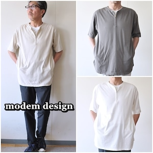 modemdesign モデムデザイン 半袖ジップカットソー 2001854 Tシャツ カットソー メンズ