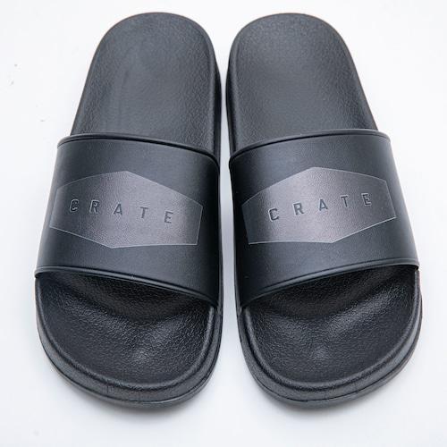 CRATE SANDALS BLACK×BLACK