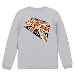 No.2020-welshcorgi-longts2-009  :  :5.6オンス ロングスリーブ Tシャツ(1.6インチリブ)   コーギーのユニオンジャック絨毯