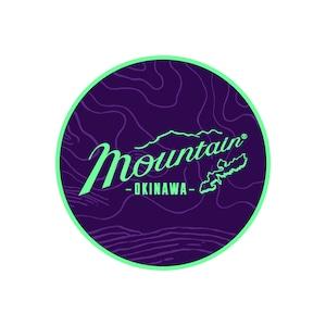 Mountain オリジナルロゴ サークルステッカー / topography