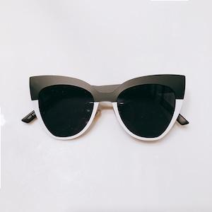 Eyewear♡キャットアイ04 ブラック&ホワイト