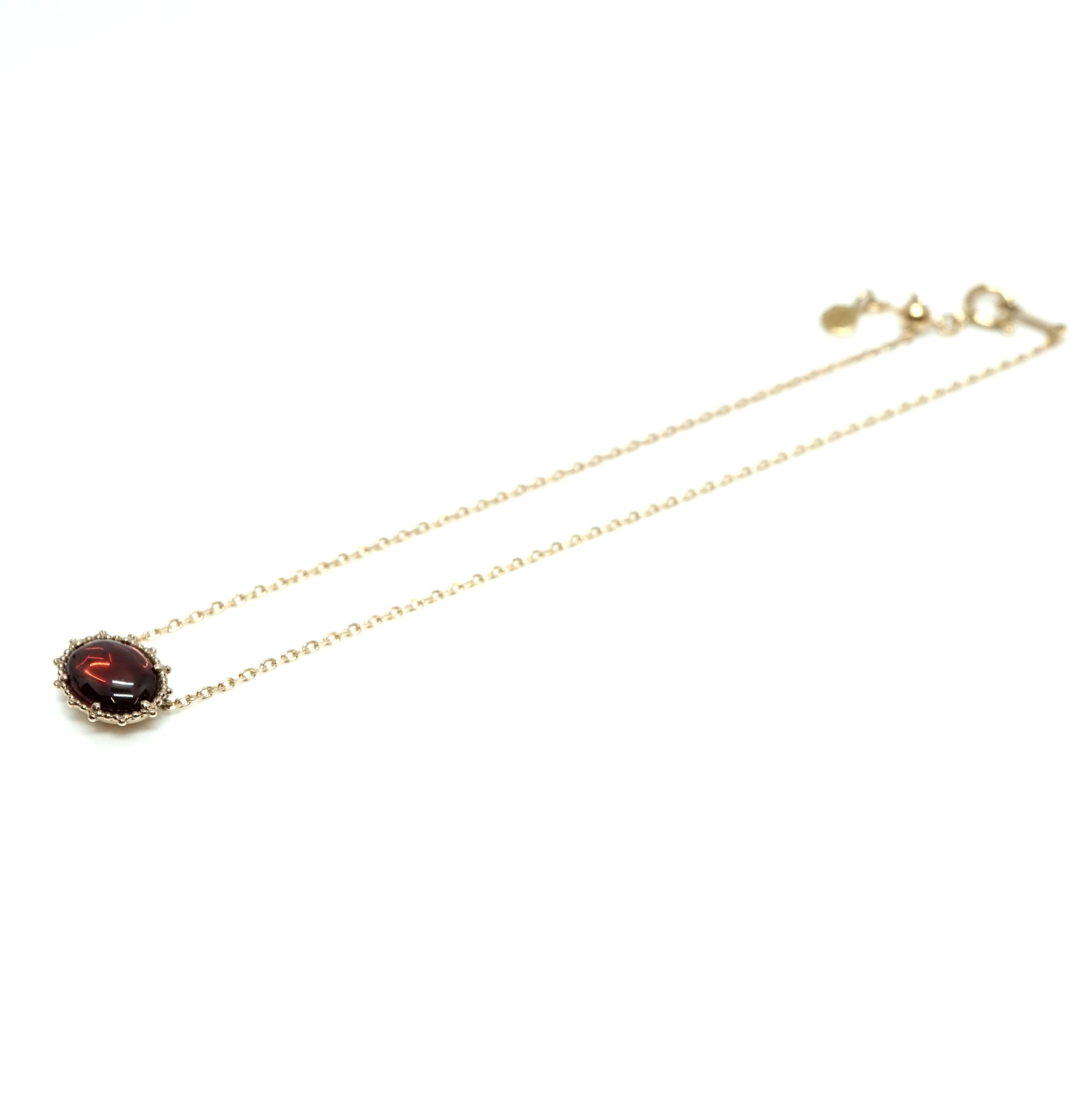 Granulation 8×6 Stone bracelet - Garnet