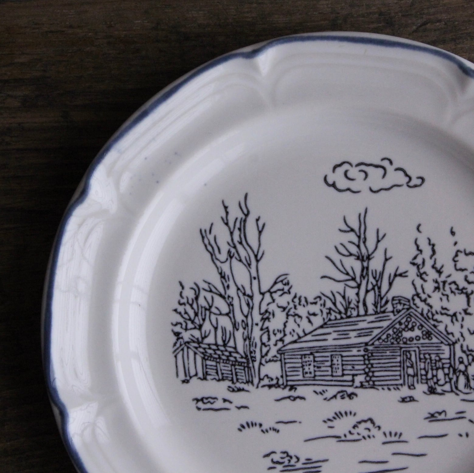 JISO ほのぼの絵柄のストーンウェア 取皿 在庫1枚