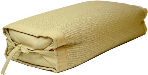 【栗毬染め 中枕】 中芯材:そば殻 柳川ブランド認定品