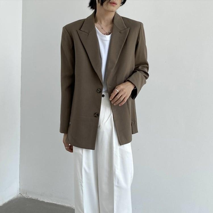 Double breasted slit jacket   b-468