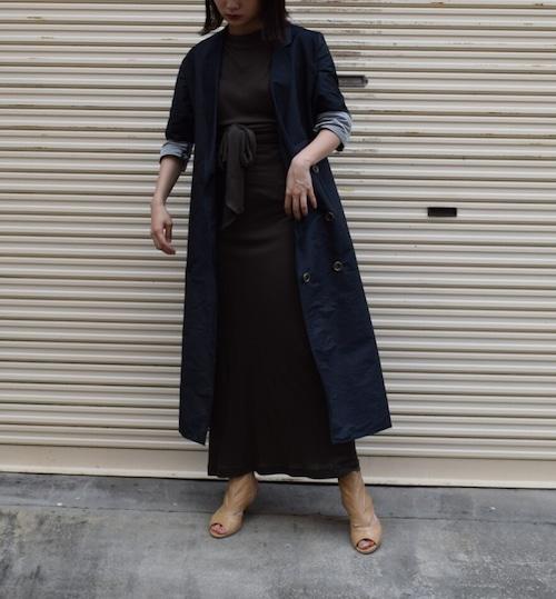 Double button long dress jacket