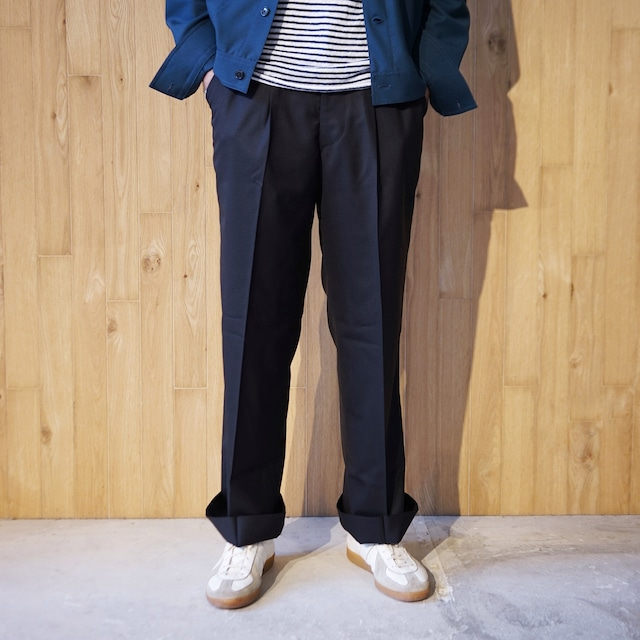 COLONY CLOTHING / WOOL RIP STOP WIDE TROUSERS  / CC21-PT02