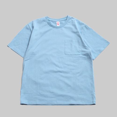 CC BASIC HEART POCKET T-SHIRT-R.BLUE