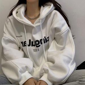 【トップス】韓国系長袖フード付きプルオーバーアルファベットパーカー50630621