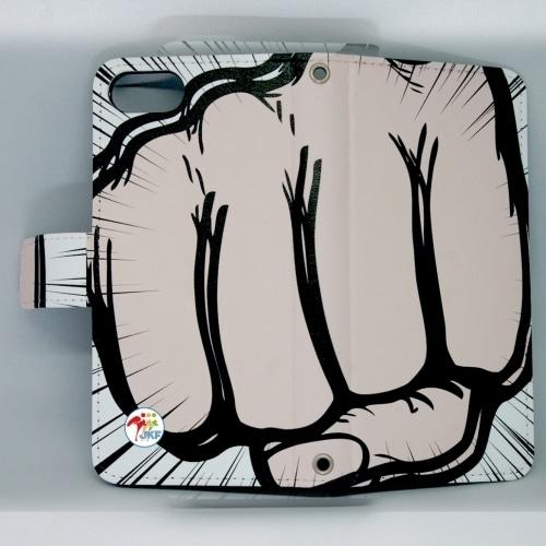 iPhone用:全日本空手道連盟認定 手帳型スマホケース B_拳KOBUSHI