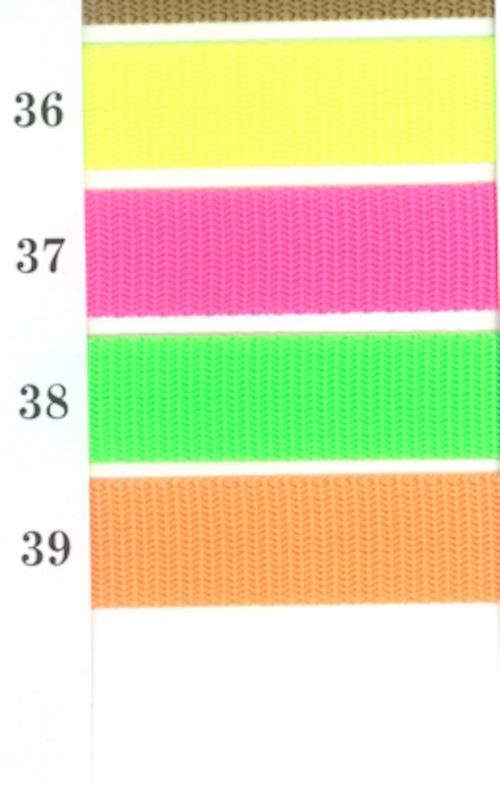 蛍光 ビタミンカラー PPテープ 10㎜幅 1.5㎜厚 50m巻