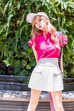 GOLF プリーツミニスカート WHITE