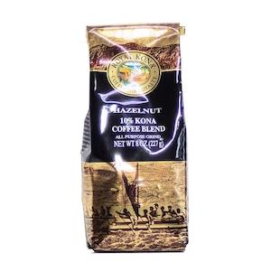 ヘーゼルナッツ(挽き済みの粉) ロイヤルコナ(8oz 227g) ハワイコナコーヒー フレーバーコーヒー
