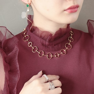 NECKLACE || 【通常商品】 CIRCLE CHAIN NECKLACE(GOLD) || 1 NECKLACE || GOLD || FNOAL1205K