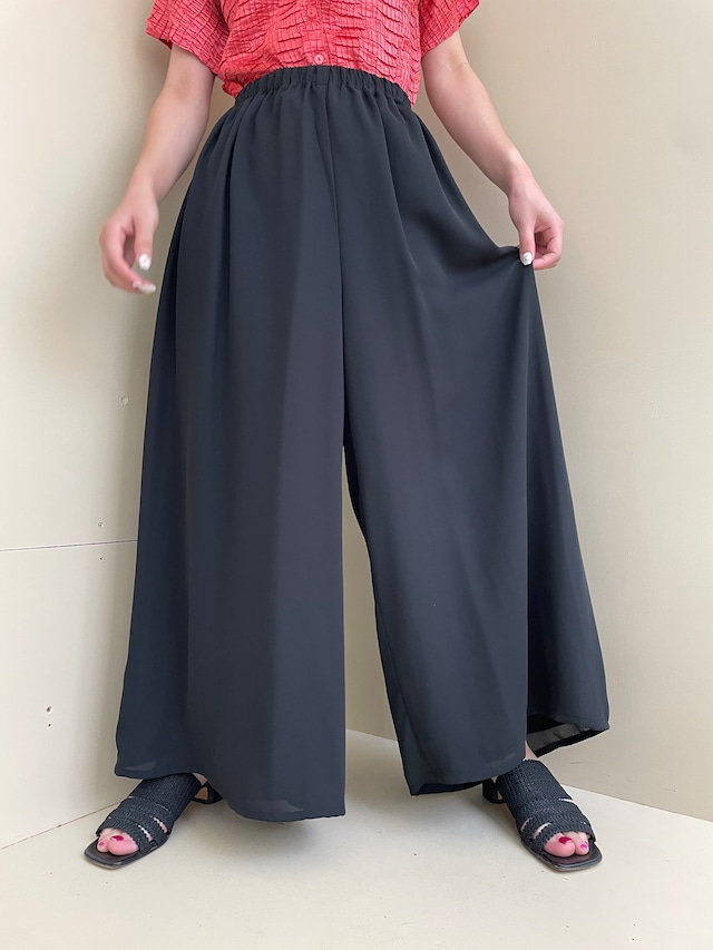 see-through wide pants  / 7SSPT21-12