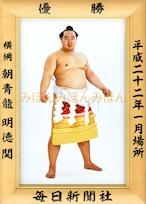 平成22年1月場所優勝 横綱 朝青龍明徳関(25回目最後の優勝)