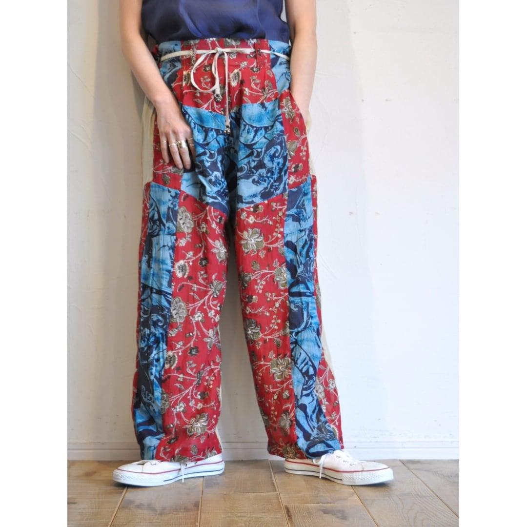 【 RehersalL 】ethnic high waist pants (light 1)/【リハーズオール】エスニックハイウェストパンツ(ライト1)