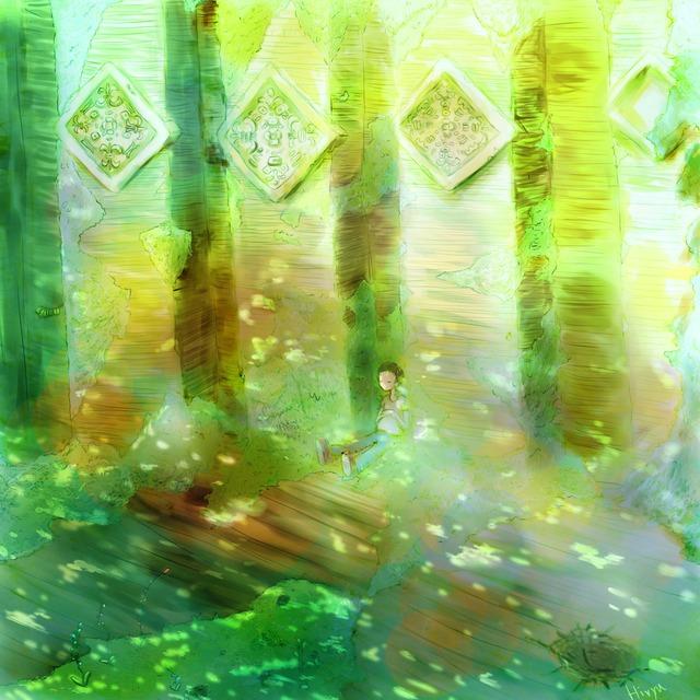 絵画 絵 ピクチャー 縁起画 モダン シェアハウス アートパネル アート art 14cm×14cm 一人暮らし 送料無料 インテリア 雑貨 壁掛け 置物 おしゃれ ロココロ イラスト 自然 風景 画家 : 志摩飛龍 作品 : Birth by Sleep