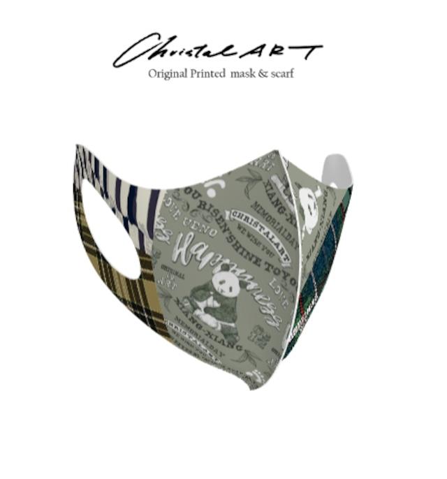 ◆受注生産◆オリジナルプリントマスク◆レタリングシャンシャン柄