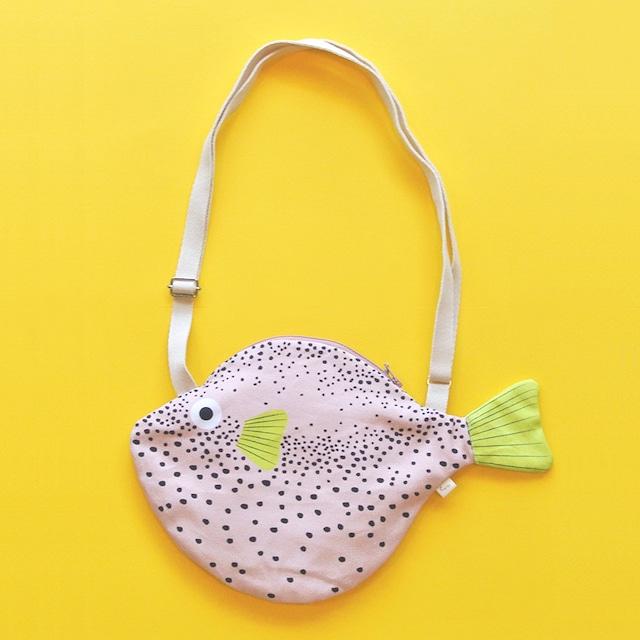 《魚/ふぐ》おさかなバッグ フグ ショルダーバッグ DON FISHER ドンフィッシャー PINK PUFFERFISH スペイン 輸入雑貨 ピンク