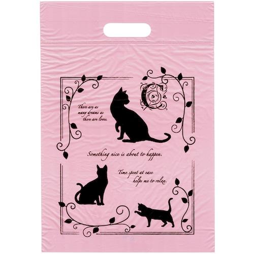 猫手提げポリ袋(エレガントキャットPEバッグ)S