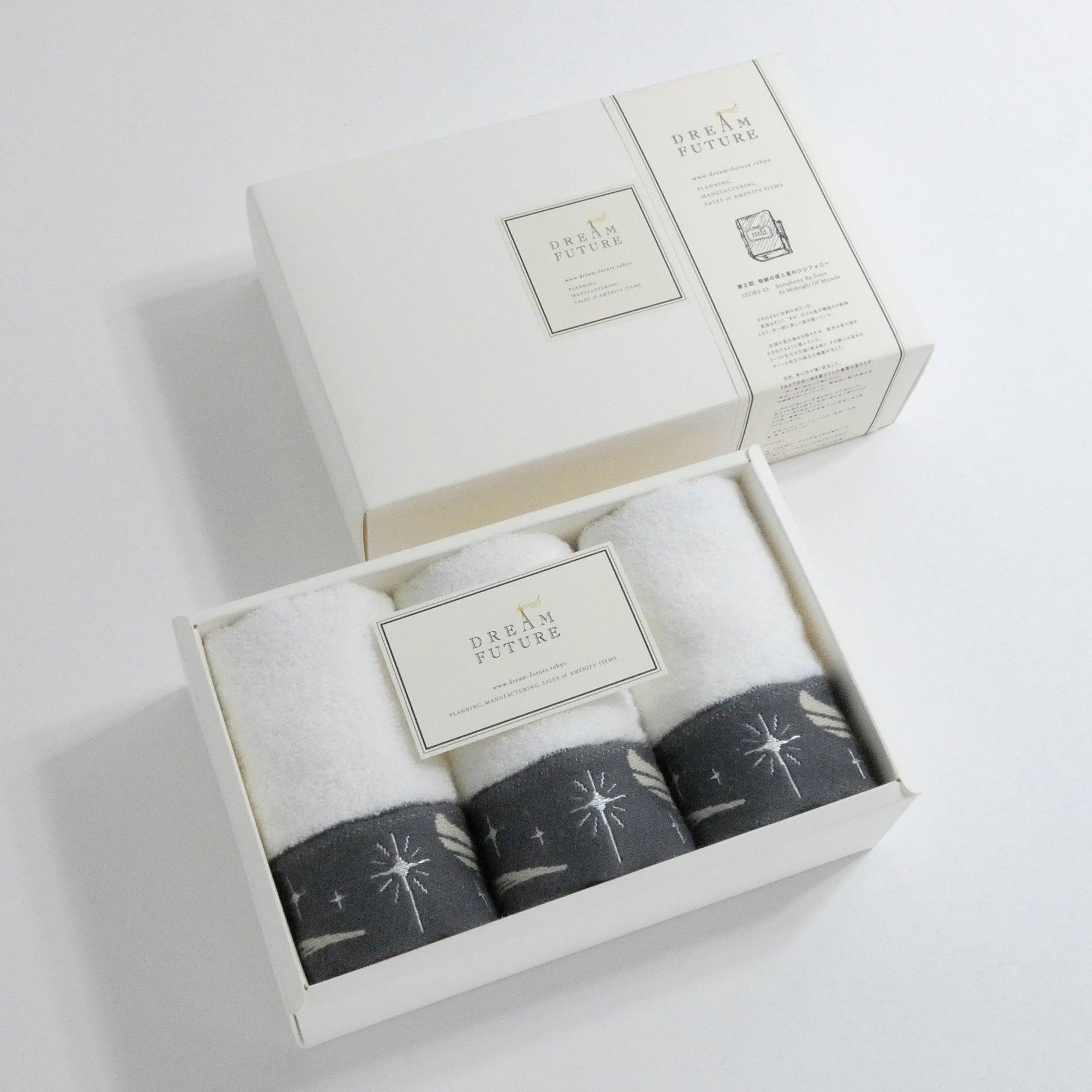 無撚糸(むねんし)高級Hand Towel 3枚SET Twinkle GRAY / Twinkle GRAY / Twinkle GRAY