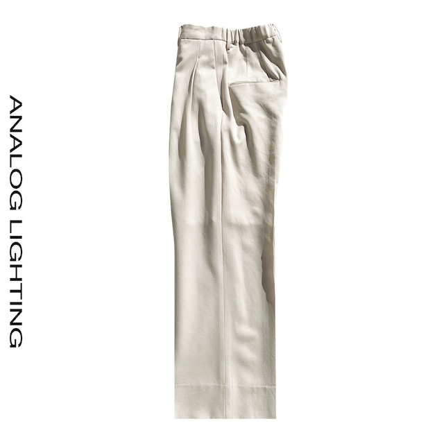 Tuck Wide Pants/IVORY