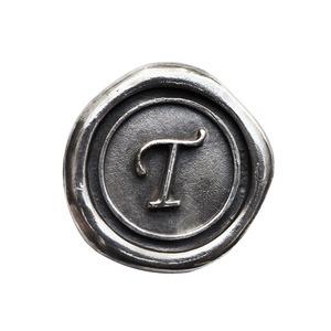 シーリングイニシャル S 〈T〉 シルバー / コンチョボタン