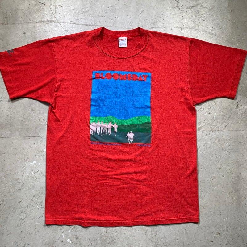 80's NIKE BLOOMSDAY マラソン大会 フィニッシャーTシャツ JERZEES BY RUSSELL 社外ボディ Lサイズ USA製 希少 ヴィンテージ BA-1459 RM1878H