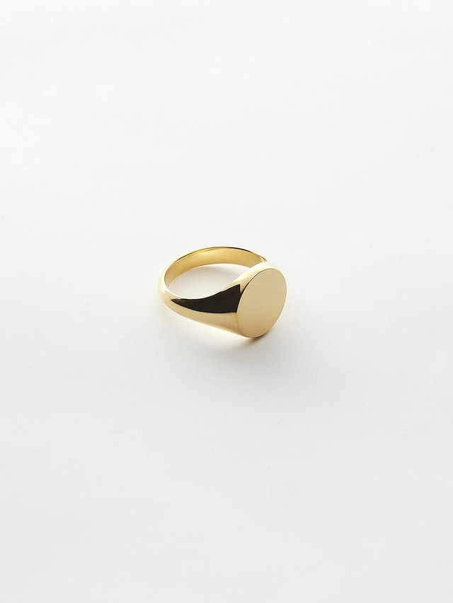 WEISS Round Signet Ring Gold wei-rggd-06