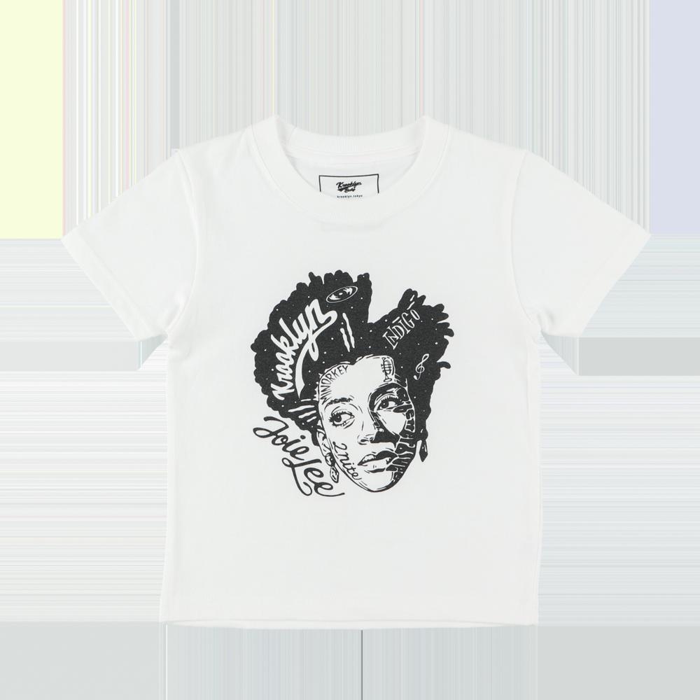 "K'rooklyn × 上岡 拓也 - Kids T-Shirts(100cm〜120cm) ""JOIE LEE"" - White"