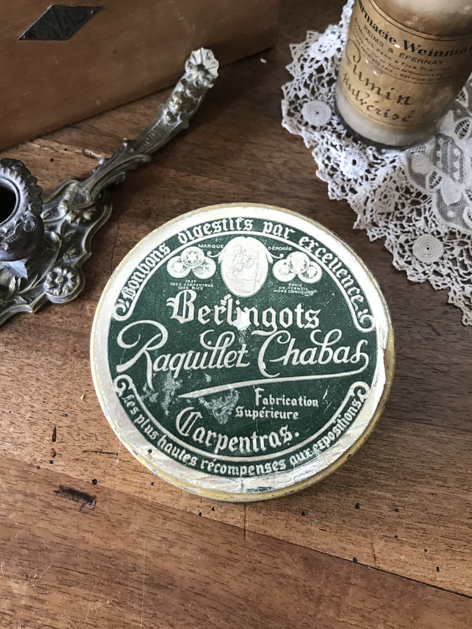 Berlingots キャンディーのTIN缶