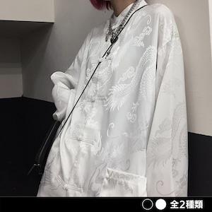 《ランキング3位》ドラゴンチャイナシャツ(全2色) / HWG317