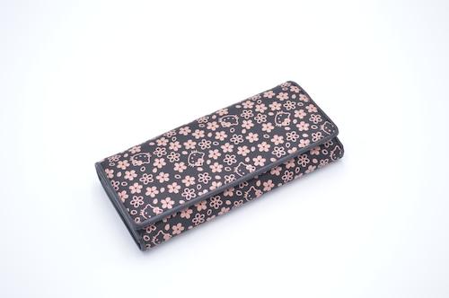 キティ印傳 中L型長財布 桜柄