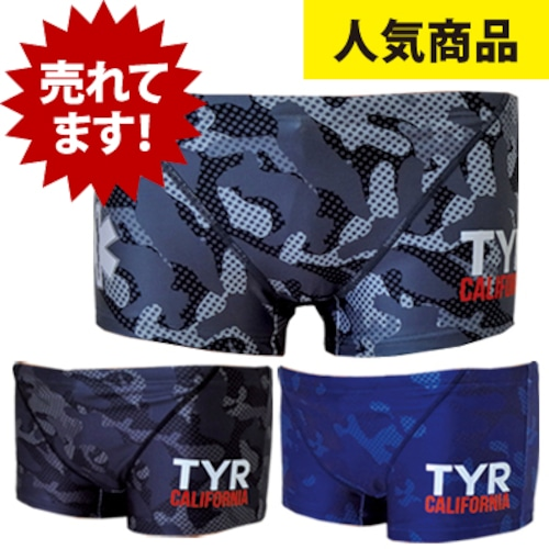 TYR×GUARD メンズ水着 ショートボクサー カモフラ bgad1-17m 競泳 ブランド トライアスロン レスキュー