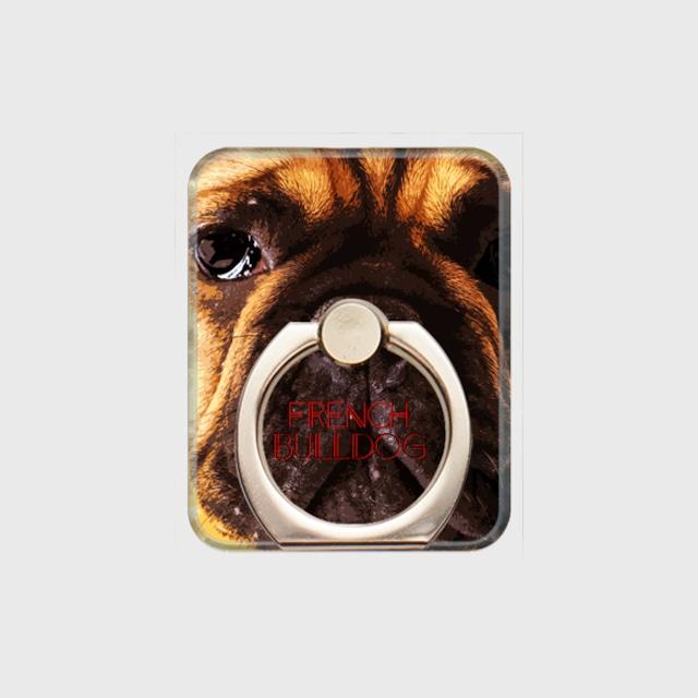 フレンチブルドッグ おしゃれな犬スマホリング【IMPACT -color- 】