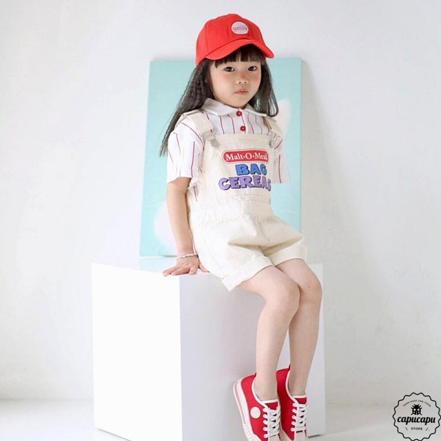 «sold out» bubble kiss short overall ショートオーバーオール