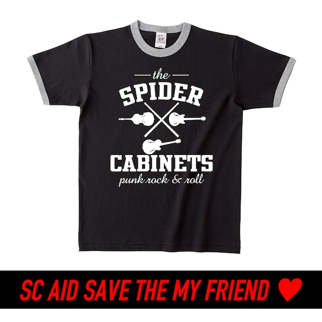 【BLACK】SC AID SAVE THE  MY FRIEND SPECIAL LIMITED T-SHIRTS:6月末頃お届け
