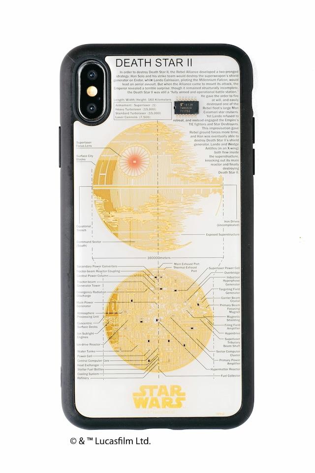 FLASH DEATH STAR 基板アート iPhone XS Maxケース 白【東京回路線図A5クリアファイルをプレゼント】