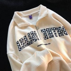 【トップス】柔らかくて優しい印象 ファッション プルオーバー  プリント  POLOネックパーカー53574655