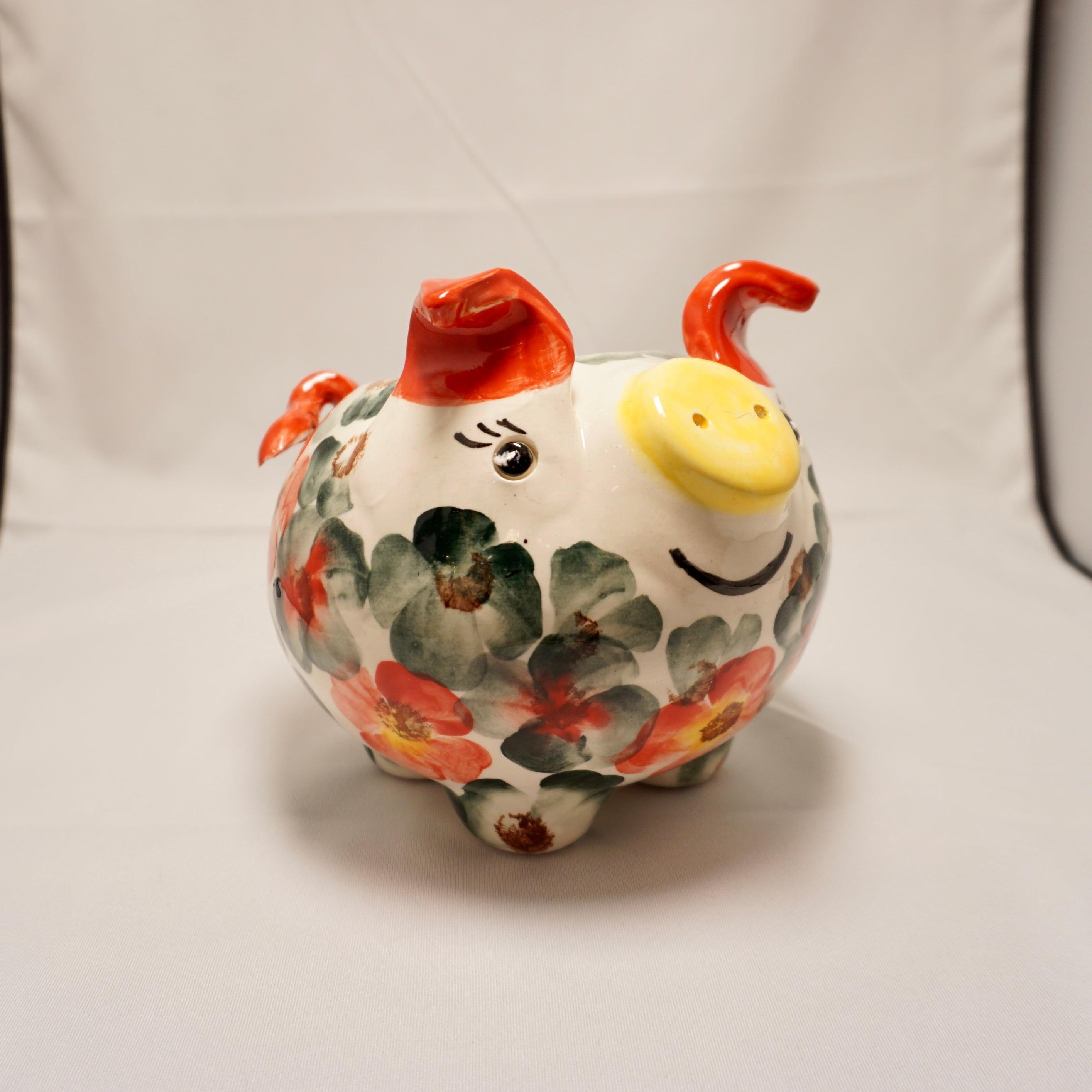 【スペイン陶器】ぶた型プランター