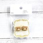 【卯の月屋】くまクッキーのピアス/ピアス