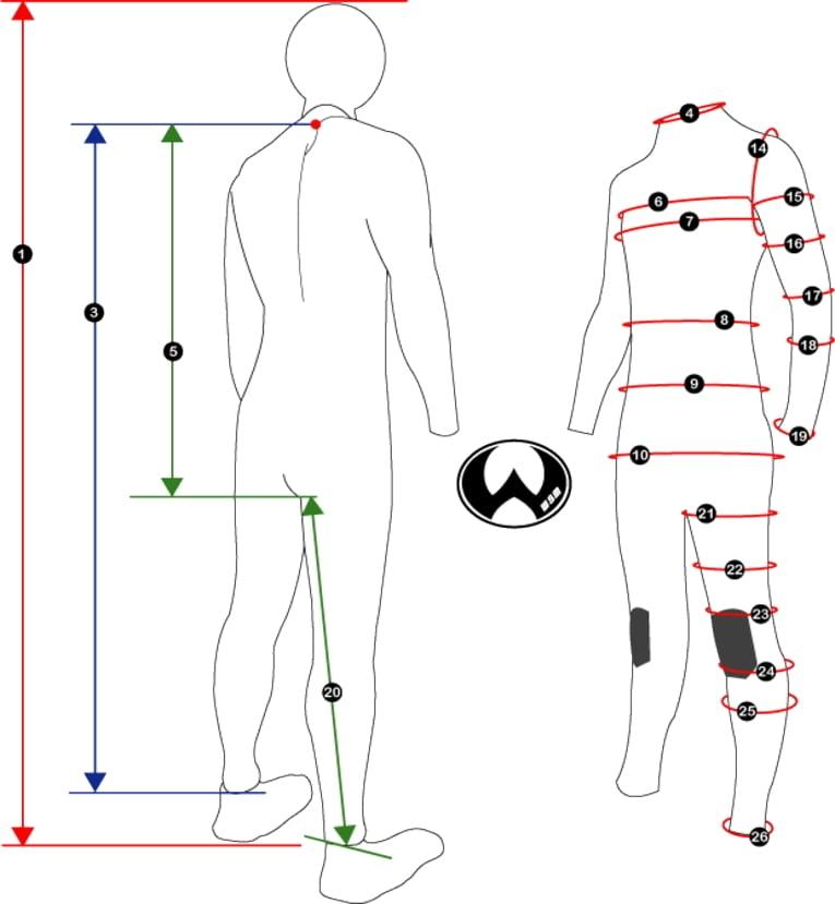 【オプション】ウエットオーダー追加料金(胸囲、腹囲、尻囲 100センチ以上)