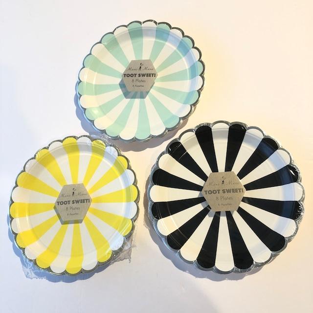 merimeri メリメリ - paper plate / ペーパープレート ( STRIPE ) 8枚入り