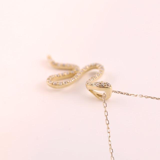 Diamond Pendant -Snake