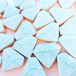 ダイヤモンドのアイシングクッキー