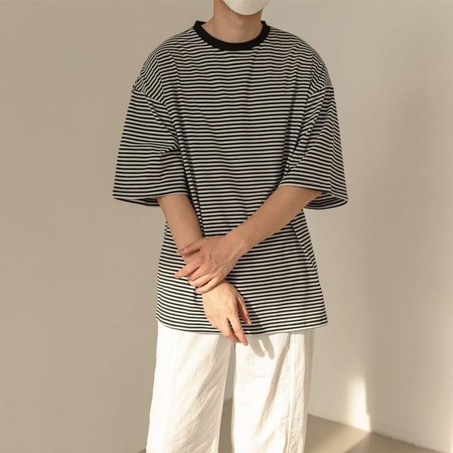 ハーフスリーブボーダーTシャツ YH3830