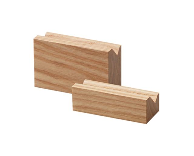リングスタンド2本用L置き型 木製バウム色 1145-NW-L