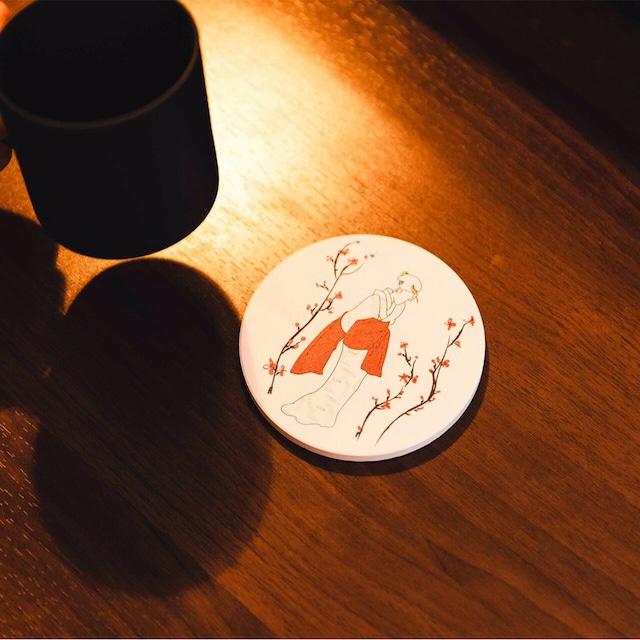UYAMA 珪藻土コースター 『舞子 - maiko』