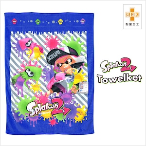 任天堂(Nintendo) スプラトゥーン2 お昼寝ケット ネムリノジカン サイズ/(約)85×115cm タオルケット 制菌加工